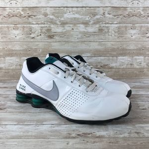 Nike Shox Deliver Mens 13 White Black Leather